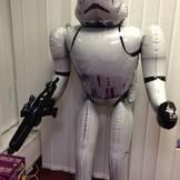 Star Wars Storm Trooper foliový balónek chodící 177cm x 83cm