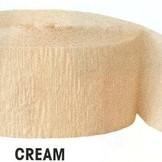 Krepový papír Cream 24,6m x 4,4cm