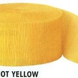 Krepový papír Yellow