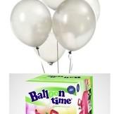 Helium Balloon time + balónky bílé 30ks
