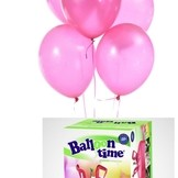 Helium Balloon time + balónky růžové 30ks