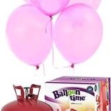 Helium Balloon time + balónky světle růžové 50ks