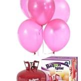 Helium Balloon time + balónky růžové 50ks