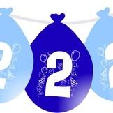 Narozeninové balónky modré visící 2.