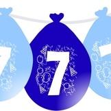 Nafukovací balónky narozeninové modré visící 7