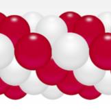 Balónková girlanda červeno-bílá 3 m