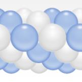 Balónková girlanda světle modro-bílá 3 m