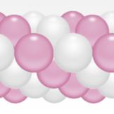 Balónková girlanda světlerůžovo-bílá  3 m