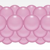 Balónková girlanda světlerůžová  3 m