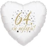 64. narozeniny balónek srdce