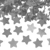 Vystřelovací konfety hvězdy stříbrné 40cm
