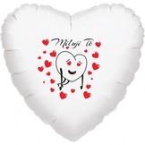 Miluji Tě balónek srdíčko bílý fóliový