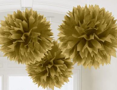 Plesová dekorace ve zlatém odstínu
