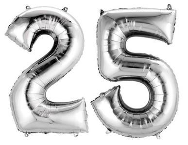 25.narozeniny výzdoba