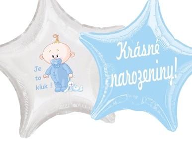 Balónky s českým nápisem