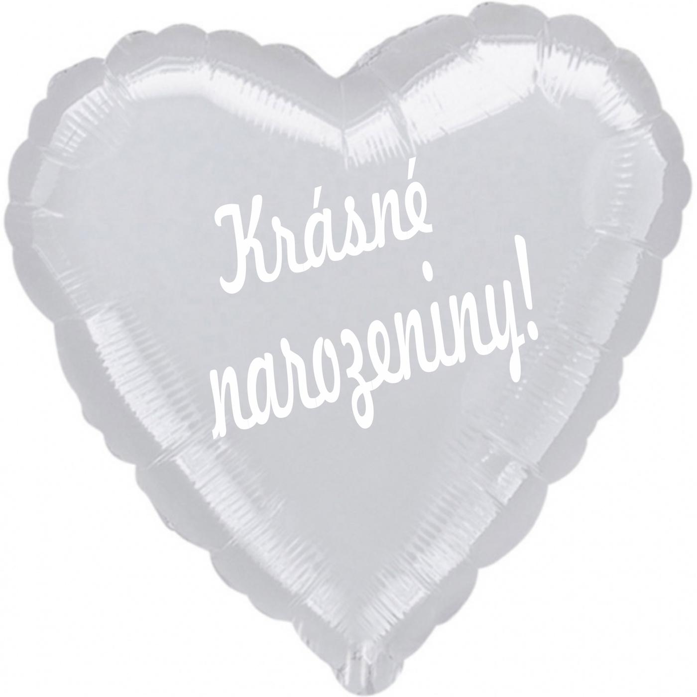 Stříbrný balónek krásnénarozeniny