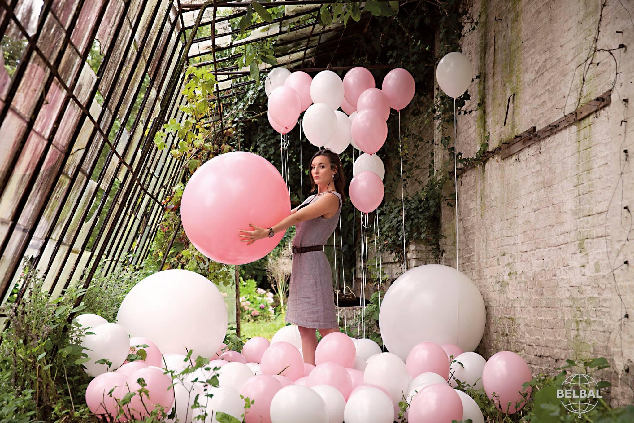 Balónek světle růžový 004