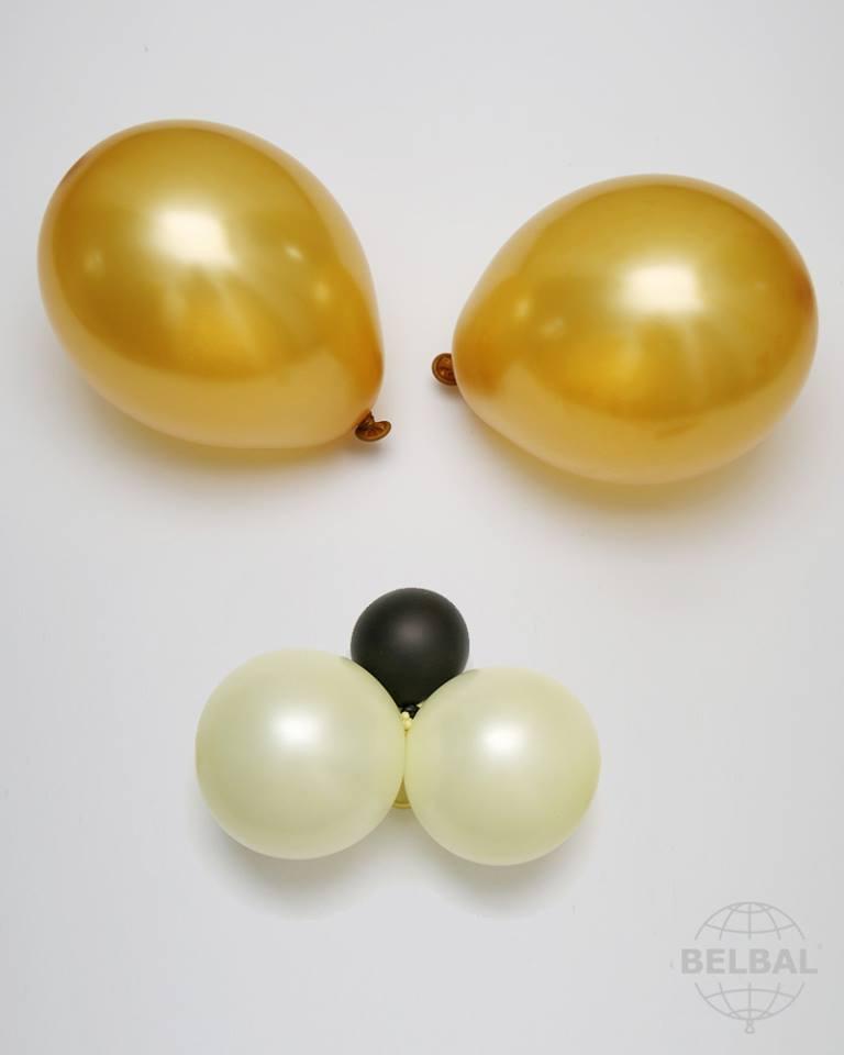 Balónek zlatý metalický 060