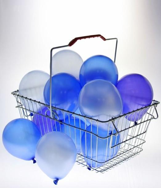 Balónky metalické - 073 LIGHT BLUE