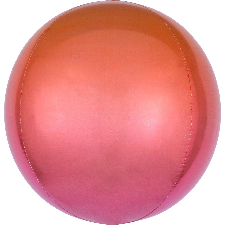 Foliový balónek koule červeno-oranžový 38 cm