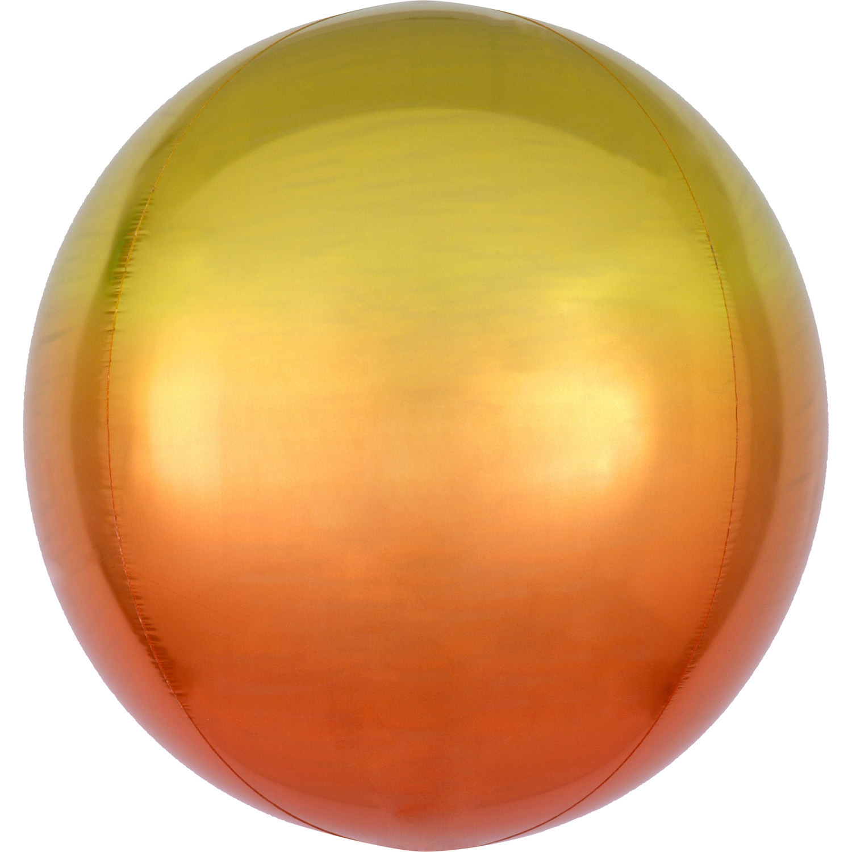 Foliový balónek koule žluto-oranžová 38 cm