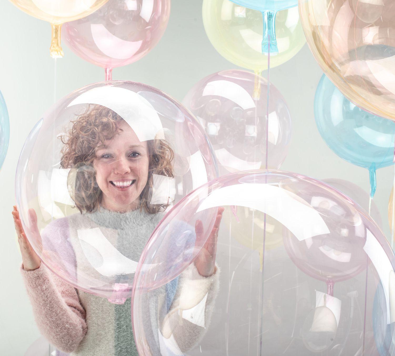 Průhledný balón 45 cm
