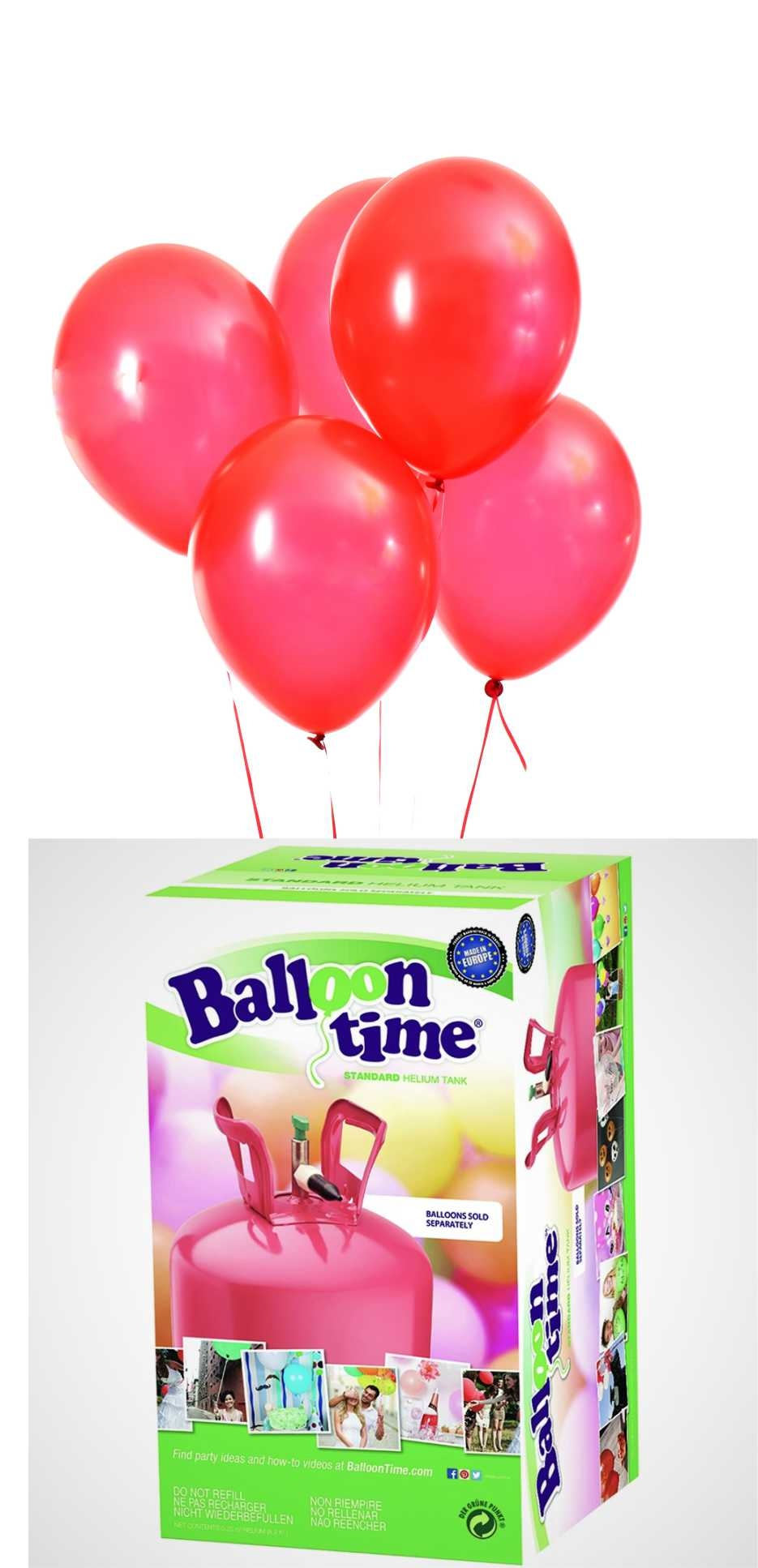 Helium Balloon time + balónky Red 30ks