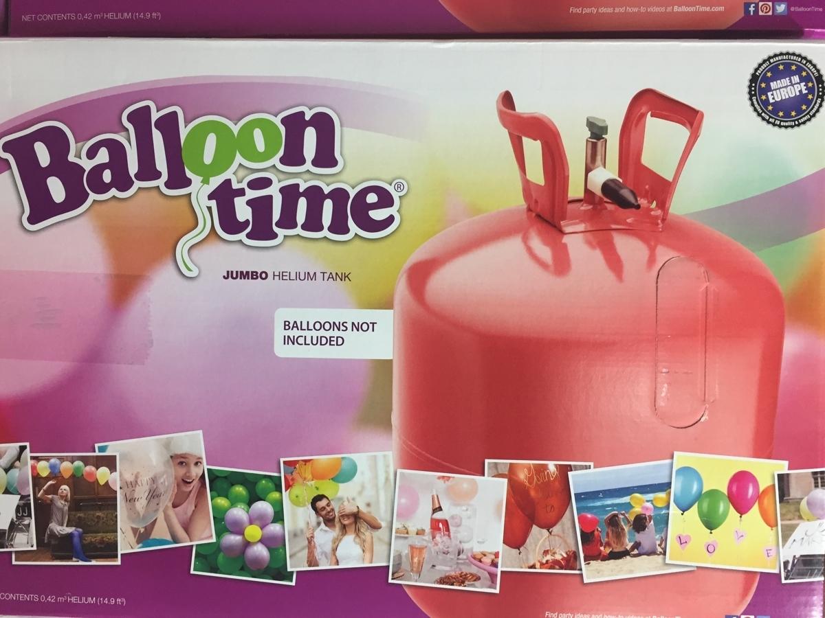 Helium Balloon time + balónky bílé 50ks