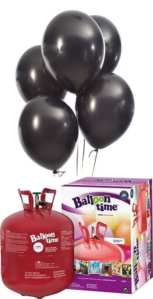 Helium Balloon time + balónky černé metalické