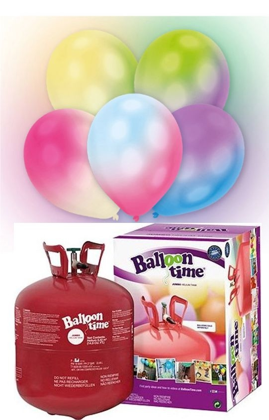 Helium Balloon time sada LED balónky mix 27ks