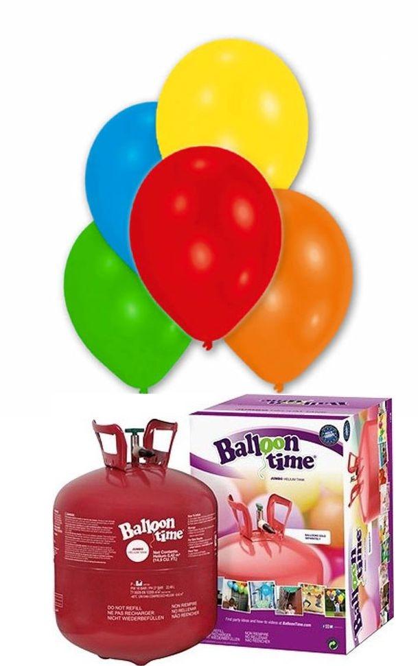 Helium Balloon time sada + LED blikající balónky mix 27ks