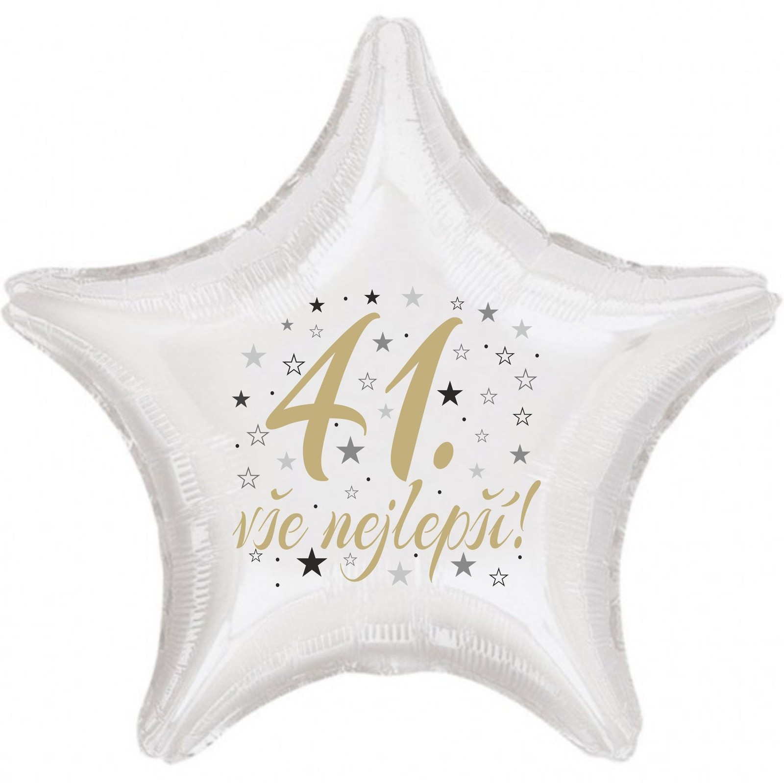 41. narozeniny balónek hvězda