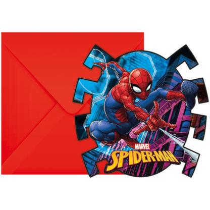 Spiderman pozvánky na narozeniny 6 ks