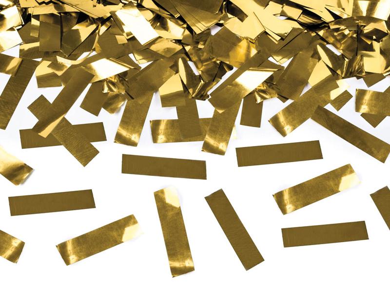 Vystřelovací konfety zlaté 80cm