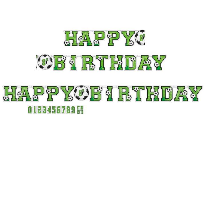 Fotbal nápis happy birthday 320 cm x 24 cm Amscan