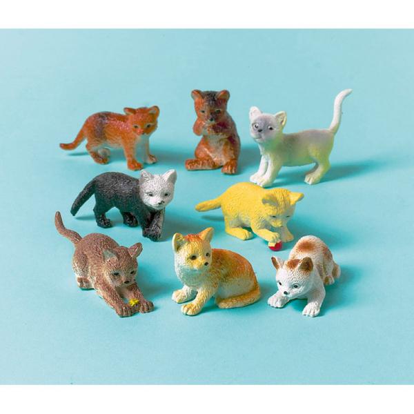 Kočky plastové hračky 12 ks Amscan