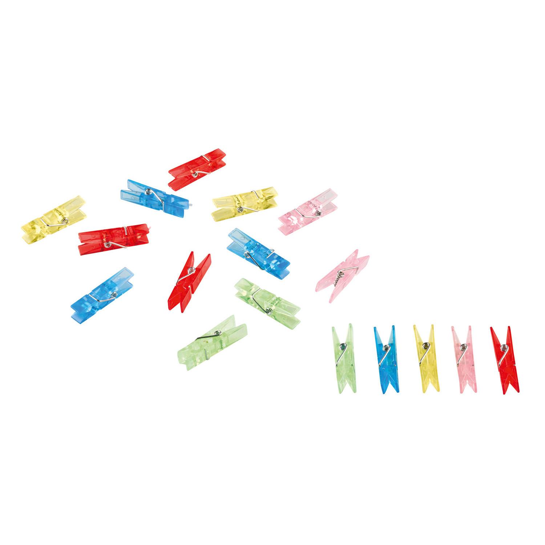 Kolíčky barevné průhledné 20 ks Amscan