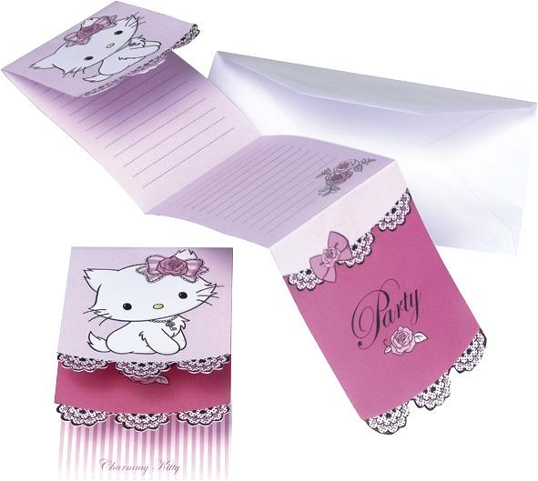 Pozvánky na párty Hello Kitty
