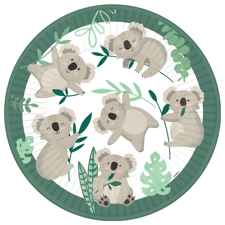 Koala talířky papírové 8 ks 22,8 cm Amscan