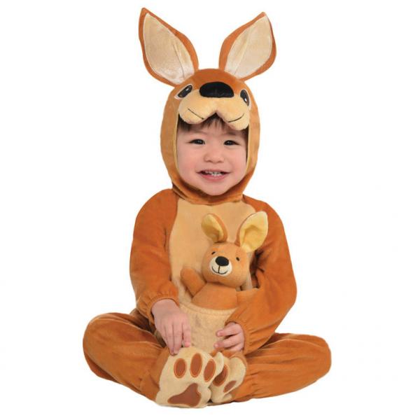 Amscan dětský kostým Klokánek hnědý 12 - 24 měsíců, 86cm