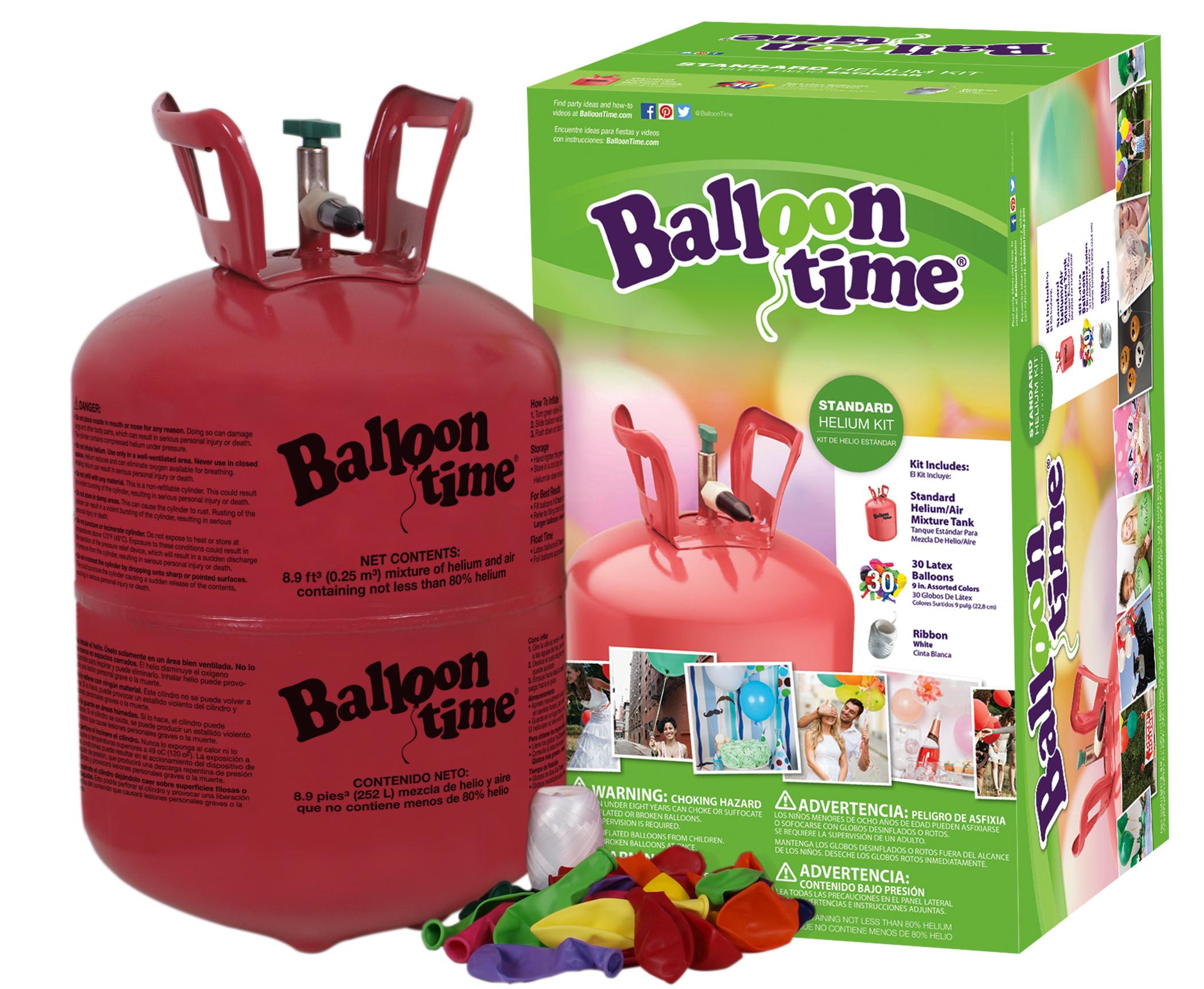 Helium Balloon Time + 30 barevných balónků mix