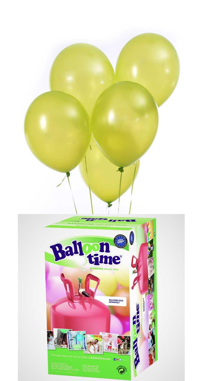 Helium Balloon time + balónky Apple Green 30ks