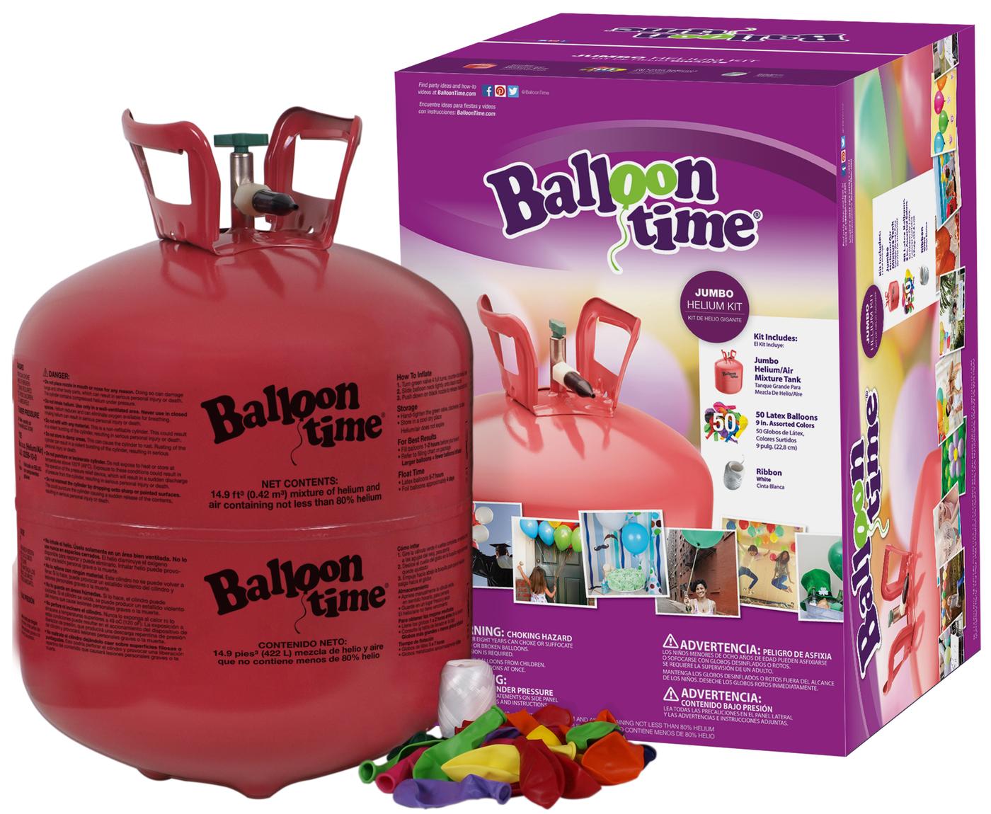 Helium Balloon Time + 50 barevných balónků mix