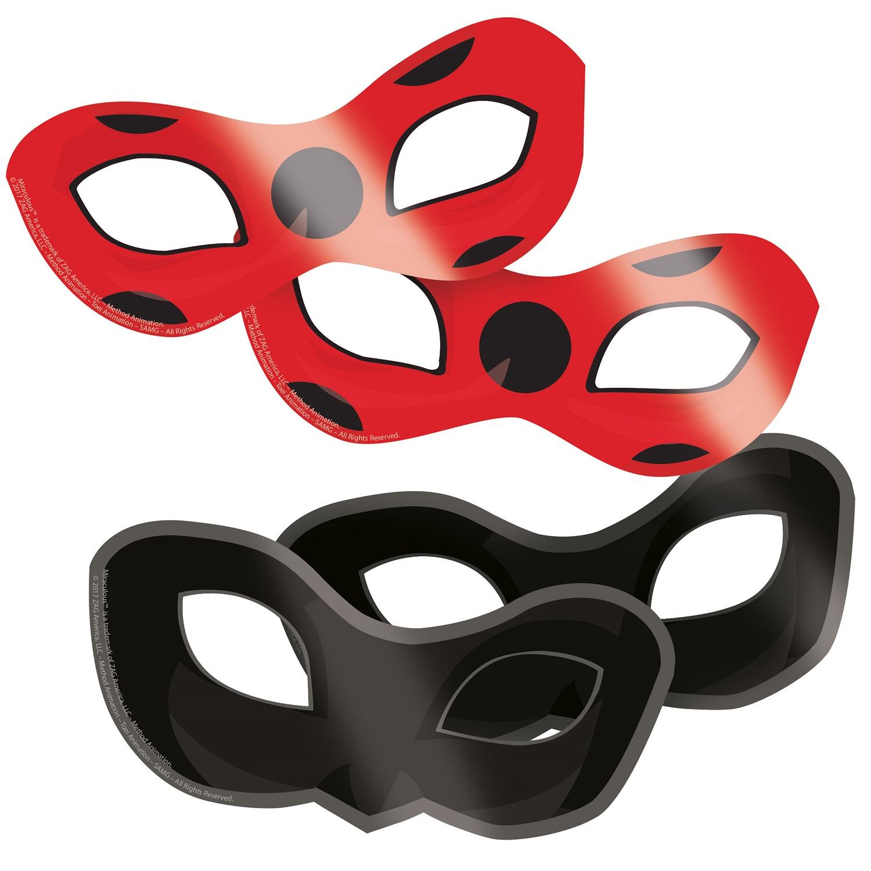 Kouzelná beruška a černý kocour maska na oči 8 ks Amscan