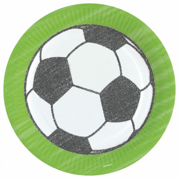 Fotbal talíře 8 ks, 23 cm Amscan