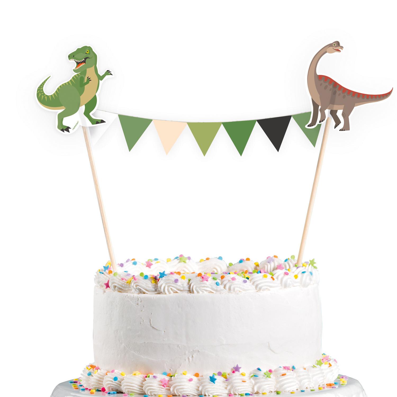 Dekorace na dort dinosaurus 15 cm x 20 cm Amscan