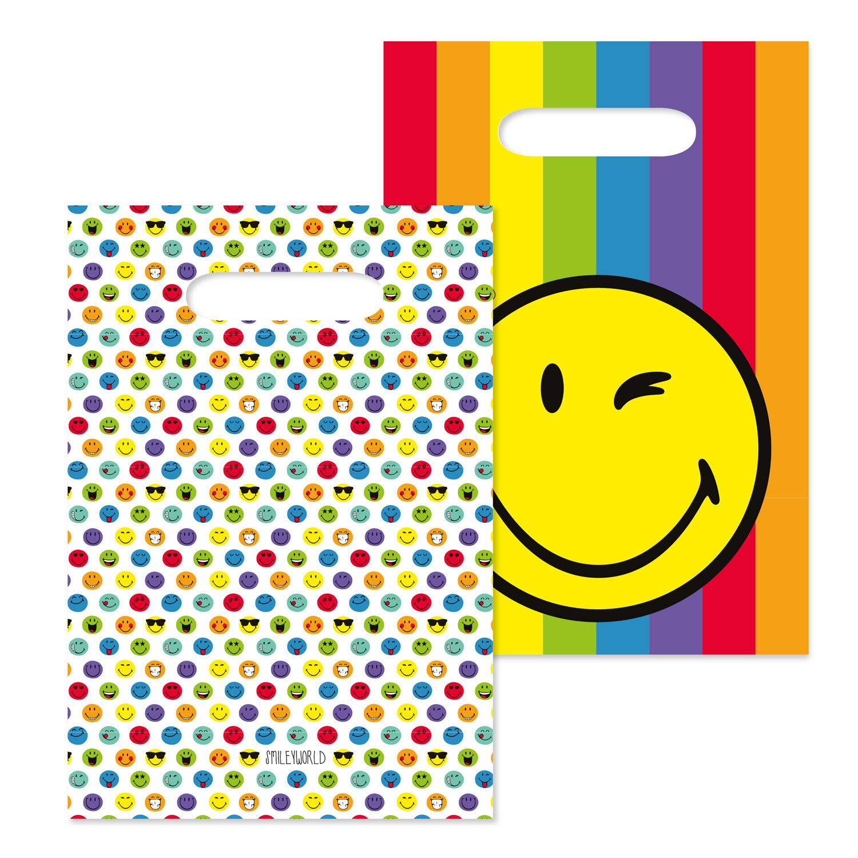 Smiley World taška papírová 16 cm x 24 cm Amscan