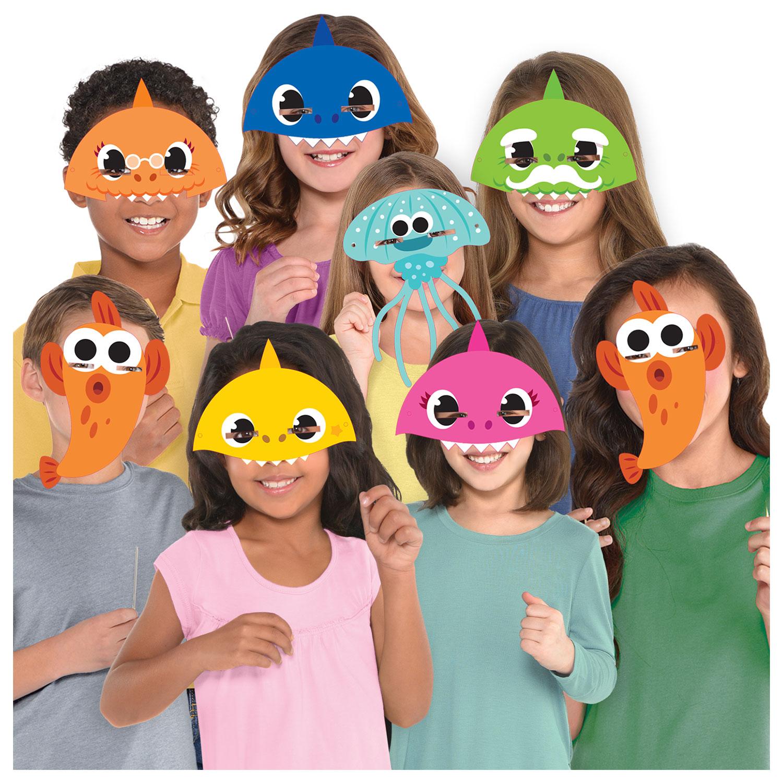 Baby Shark masky 8 ks Amscan
