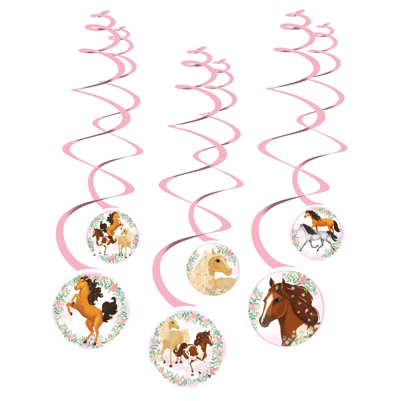 Koně závěsné dekorace 6 ks Amscan