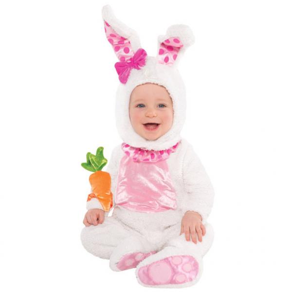 Amscan dětský kostým Zajíček bílý 12 - 18 měsíců, 81cm